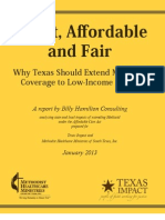 Expanding Medicaid In Texas Executive Summary