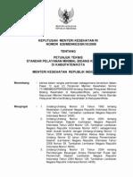 Permenkes No. 828 Tahun 2008 - Petunjuk Teknis SPM Petugas Kesehatan Di Kabupaten Kota