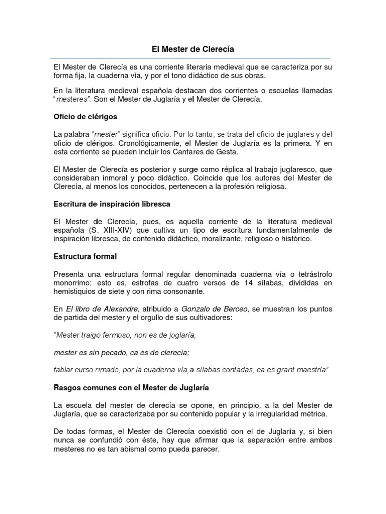 El Mester de Clerecía1.docx