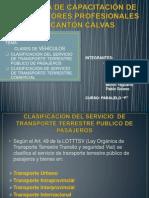 SINDICATO DE CHOFERES PROFESIONALES DE CANTÓN CALVAS