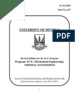 mumbai university me thermal syllabus
