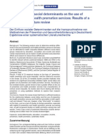 Influencia de determinantes sociales en promoción y prevención de salud