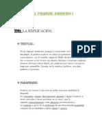 Apuntes Textual, Parafrasis, Esquematico y Evaluativo