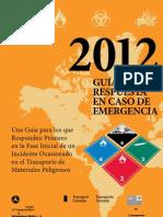 Guia de Respuesta en Caso de Emergencia - 2012