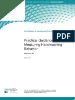 Practical Guidance for Measuring Handwashing Behavior