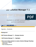 SAP Solution Manager 7.1 - OverView