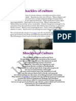 Shackles of culture