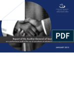 Report of the Auditor-General of South Africa of the use of consultants at selected national departments