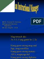 5. Roles of IM