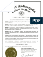 Indianapolis Proclamation 2013