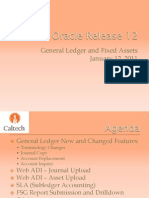 Finance and RA_ Oracle R12 General Ledger and Fixed Assets