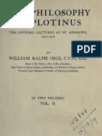 50050256 William R Inge the Philosophy of Plotinus 2