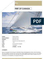 SPIRIT OF CANADA Specification