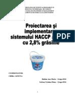 Implementare HACCP la Iaurt 2,8% grasime