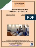 Desarrollo Económico Local. EMPRESAS Y PODER LOCAL (Es) Local Economic Development. BUSINESSES AND LOCAL POWER (Es) Tokiko Ekonomi Garapena. ENPRESAK ETA TOKIKO AGINTEA (Es)