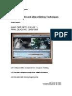 Unit 16 - Film & Video Editing Techniques