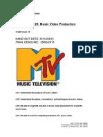 Unit 29 - Music Video Production