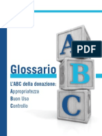 Glossario - L'ABC della donazione