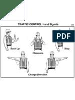Traffic Hand Signals Card