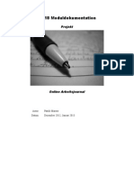 Moduldokumentation M318 (Arbeitsjournal)