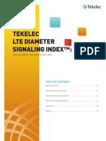 Tekelec DiameterSignalingIndex WP 2012Oct