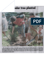 Mining Journal Photo of '10,000th Cedar Tree Planted' 7-12-12