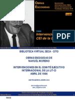 Intervenciones en El CEI de La LIT 1986