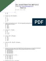 CONTOH SOAL UN SMP (MATEMATIKA 2)