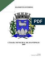 Regimento Interno Camara de Joanopolis
