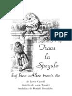 Eo - Carroll, Lewis - Trans La Spegulo Kaj Kion Alico Trovis Tie
