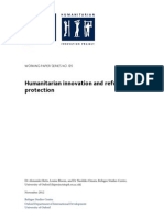 Humanitarian innovation and refugee protection