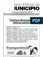Diario Oficial Do Municipio de Valenca Bahia Edicao 605