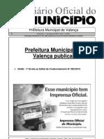 Diario Oficial Do Municipio de Valenca Bahia Edicao 609