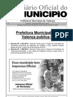 Diario Oficial Do Municipio de Valenca Bahia Edicao 611