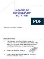 Hazards of Reverse Pump Rotation