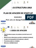 Viziunea si structura unui plan de afaceri de start-up