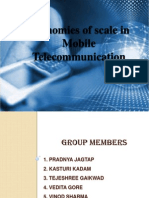 economic of scale in mobile telecommunication...
