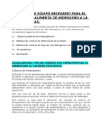 DISENO DE TUBERIA PARA ALIMENTA DE HIDROGENO A LA CALDERA.doc