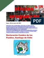 Noticias Uruguayas Lunes 28 de Enero Del 2013