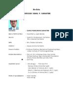 S P Sukhatme Bio Data