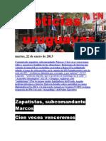 Noticias Uruguayas Martes 22 de Enero Del 2013