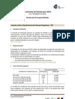 Orçamento do Estado 2013.Principais Alterações