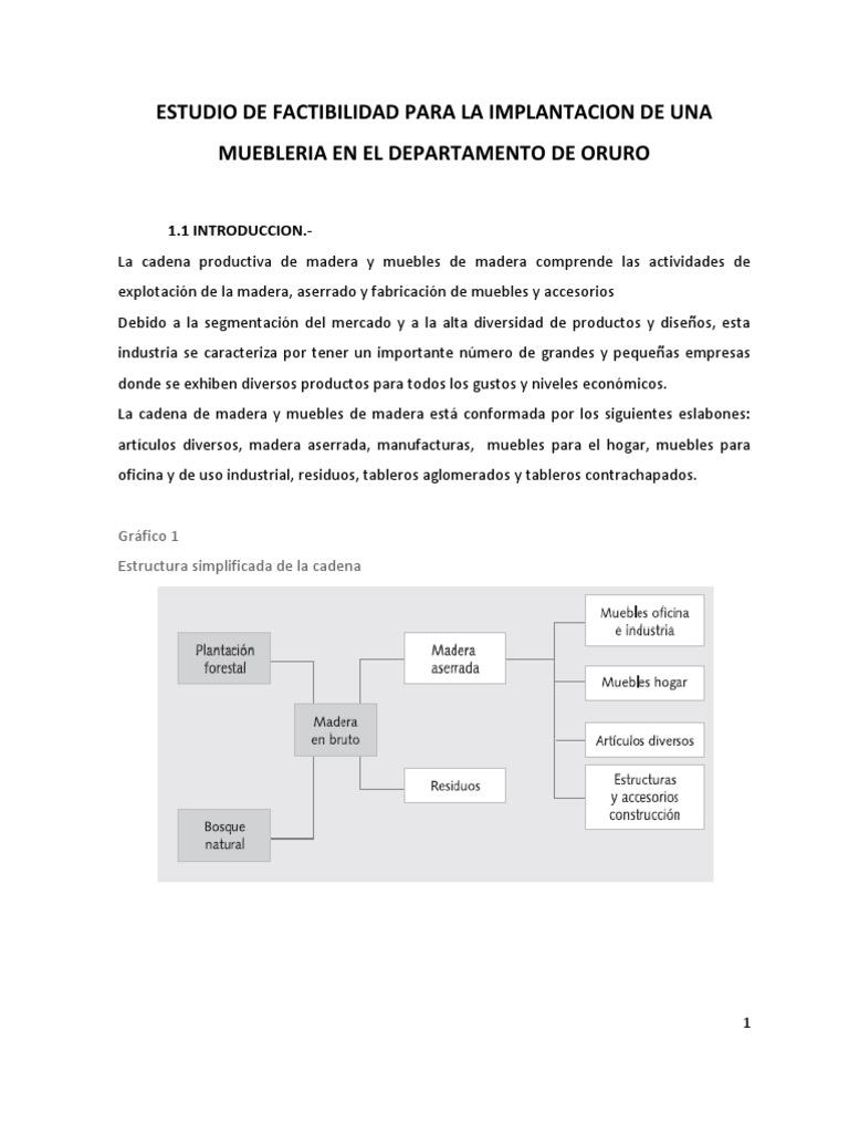 Estudio De Factibilidad Para La Implantacion De Una Muebleria En  # Foda Muebles De Madera