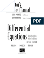 Differential Equations Solutions Manual  by Polking and Arnold