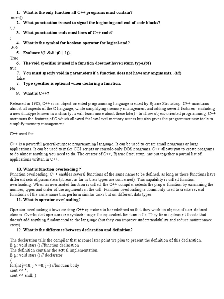 C interview questions class computer programming c buycottarizona Image collections