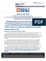 ValuEngine Issues Market Valuation Watch