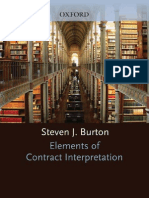 Elements of Contract Iinterpretation