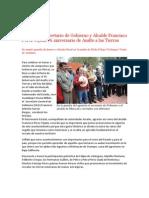 Encabezan Secretario de Gobierno y Alcalde Francisco Pérez Tejada 76 aniversario de Asalto a las Tierras
