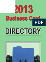 2013 Business Card Directory