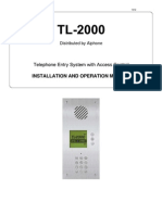 Aiphone Model TL-2000 Install-Op Manual- Westside Wholesale - Call 1-877-998-9378